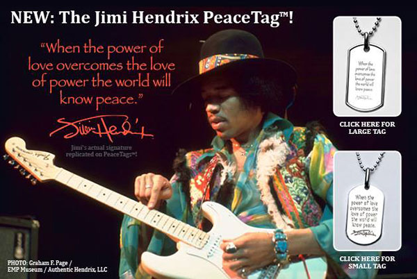 Jimi Hendrix PeaceTag Sales to Support Jimi Hendrix Park Foundation