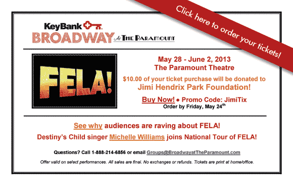 FELA! $10 Helps Fund Jimi Hendrix Park